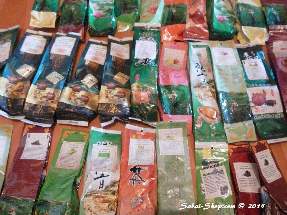 Тайский зеленый чай в ассортименте