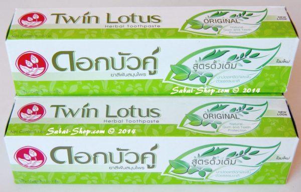 Тайская зубная паста «Twin Lotus» на травах оригинальная, 100 гр.