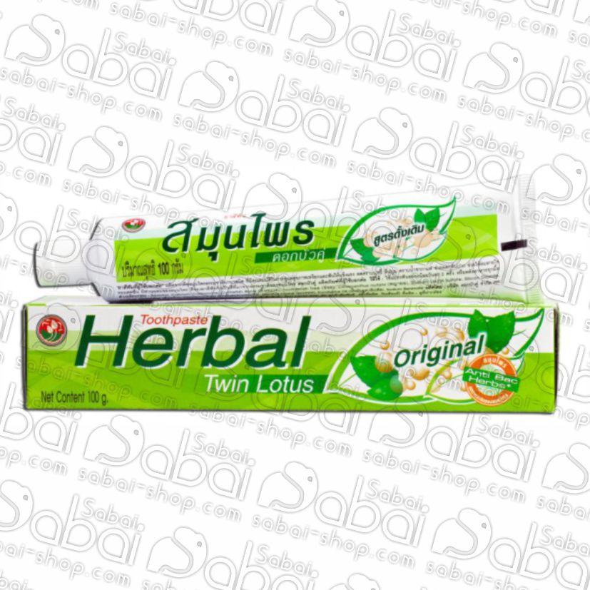 Тайская зубная паста «Twin Lotus» на травах оригинальная