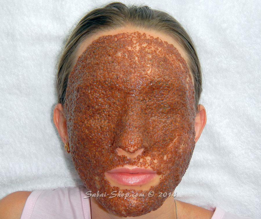 коллагеновая маска для лица из семян лотоса и морских водорослей
