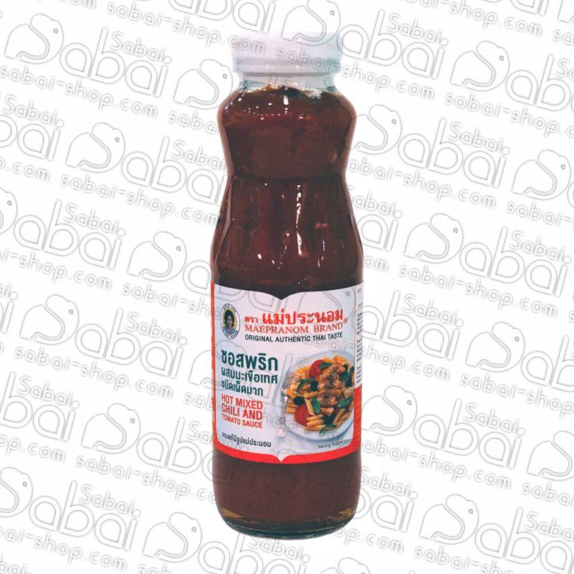 Острый соус из перцев чили и помидоров из Таиланда в Красноярске Hot _Mixed_Chilli_and_Tomato_Sauce_sabai