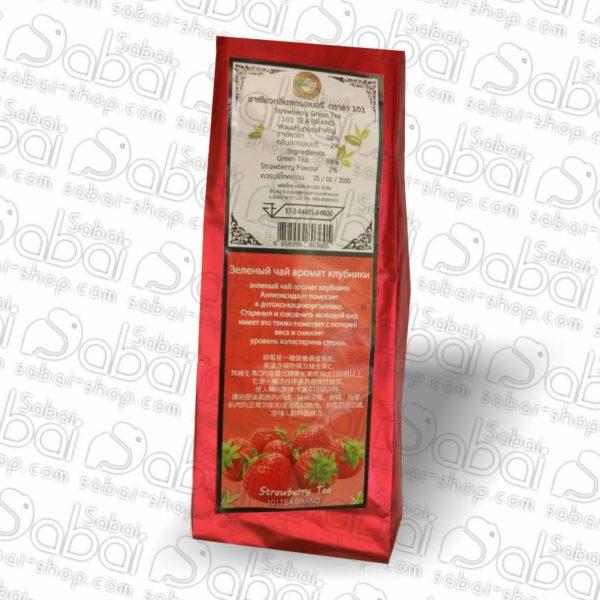 Зелёный чай с ароматом клубники 101 Tea Brand (Strawberry Green Tea) 100гр. 5720445520036 из Тайланда в Крсасноярске
