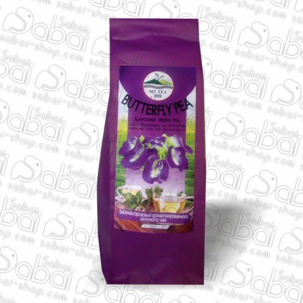 Зелёный чай с добавлением мотылькового горошка (Butterfly pea green tea) 80гр. 8859167806107