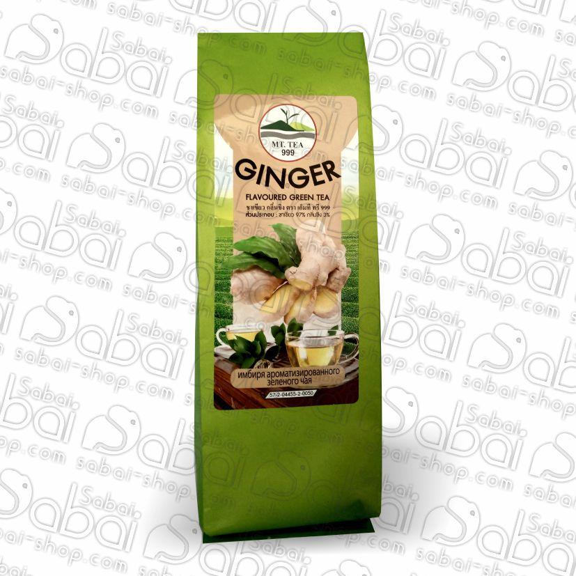 Зеленый чай с имбирем от Mt Tea (Mt Tea Green tea ginger) 80 гр. 8859167806107