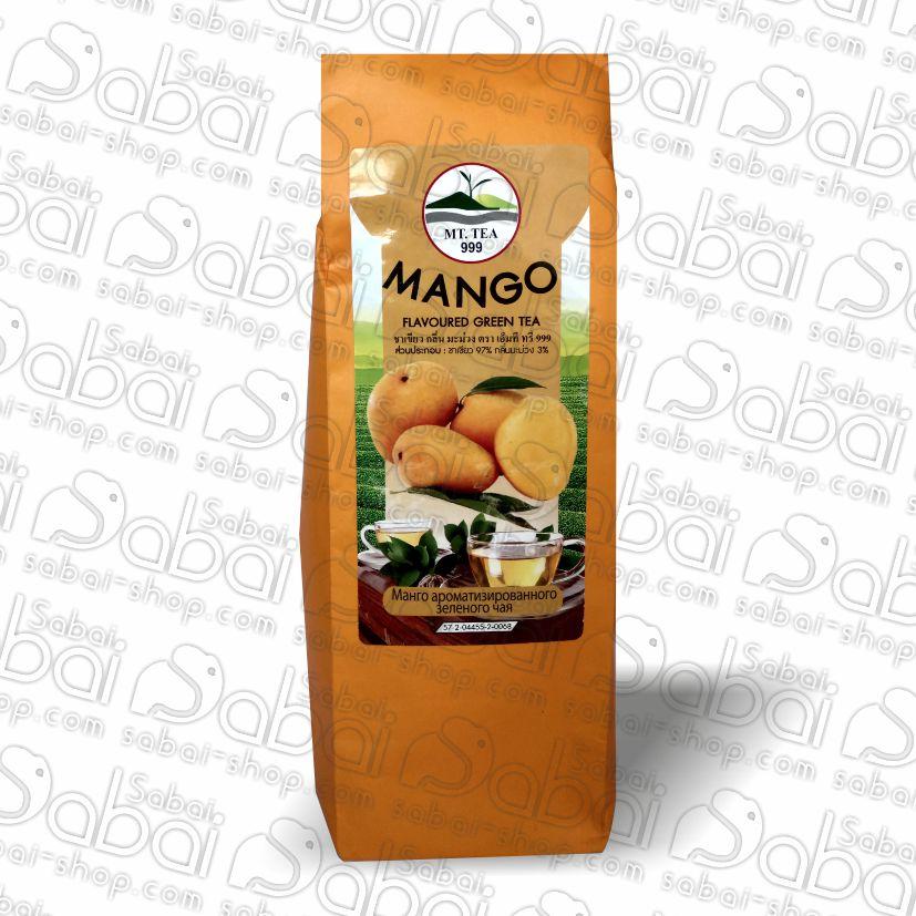 Натуральный тайский зелёный чай MT Tea с манго 80 гр. 8859167806107