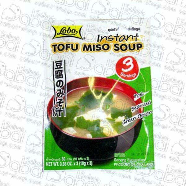 Мисо суп с тофу 3 порции Lobo (Tofu Miso Soup Lobo) 50гр. купить в Красноярске