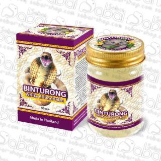Белый бальзам с ядом кобры Binturong 50гр. «Binturong» white balm with cobra hbvenom 8859146431238 купить в Красноярске.