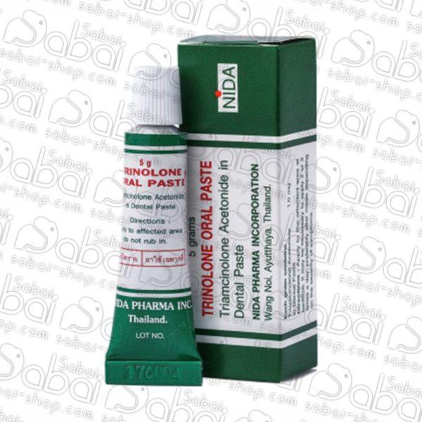 Тринолоновая паста от стоматита и воспаления полости рта Nida Trinolone Oral Paste 8858860100246 купить в Красноярске.