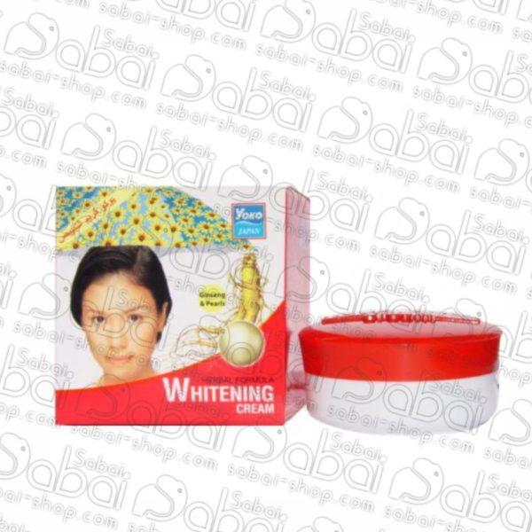 Отбеливающий крем для лица с женьшенем и жемчугом Yoko Whitening Cream Ginseng & Pearl, 4 гр. купить в Красноярске России 8853976000824