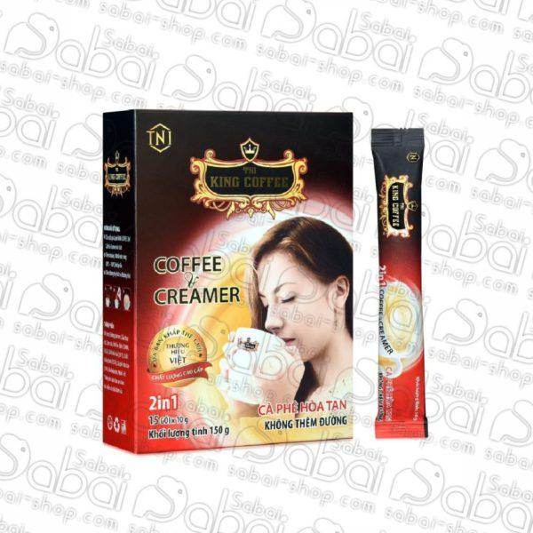 """King Coffee / Кофе растворимый 2 в 1 """"King Coffee"""" Instant Coffee & Creamer, коробка 15 стиков по 10 гр"""